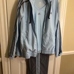 Vintage adidas blue women's training suit-XL